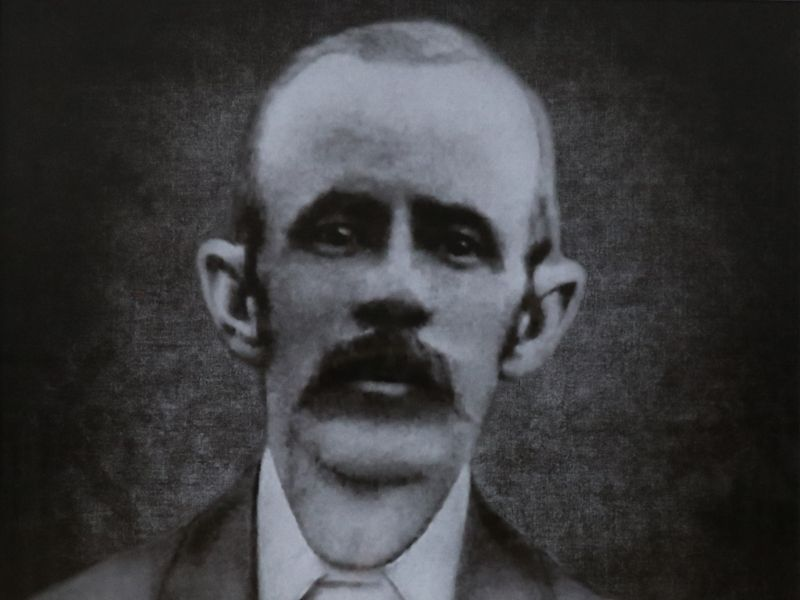 A black and white image of Thomas Abell