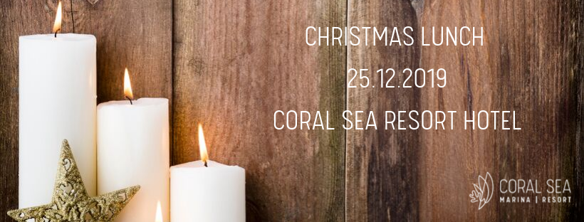 Christmas Lunch Flyer for the Coral Sea Resort Hotel