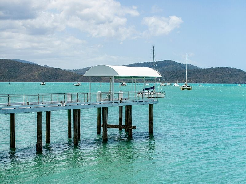 Private jetty at the Coral Sea Resort Hotel