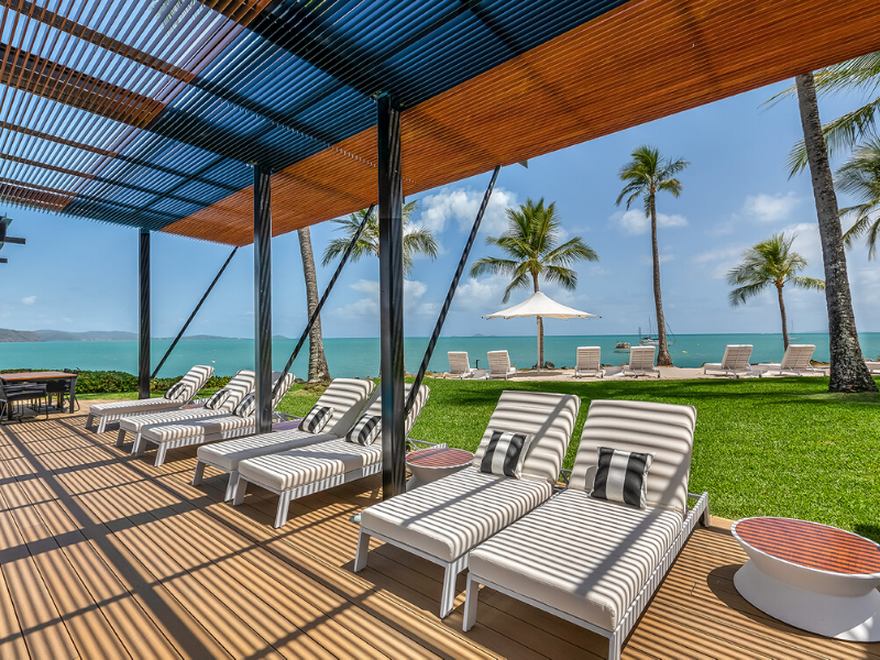 Relax poolside at the coral sea resort hotel