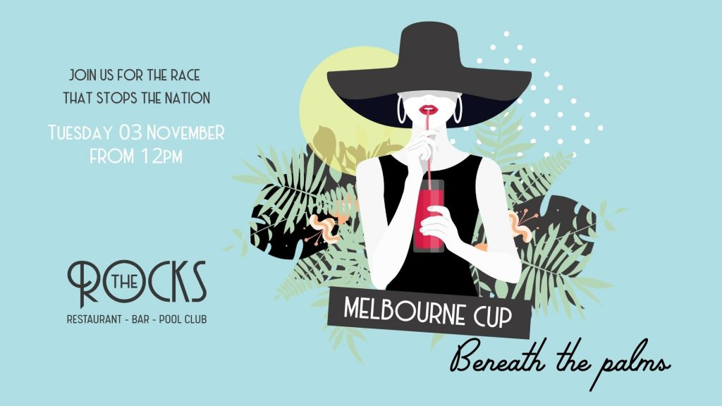 Melbourne Cup beneath the palms at The Rocks, Coral Sea Resort Hotel
