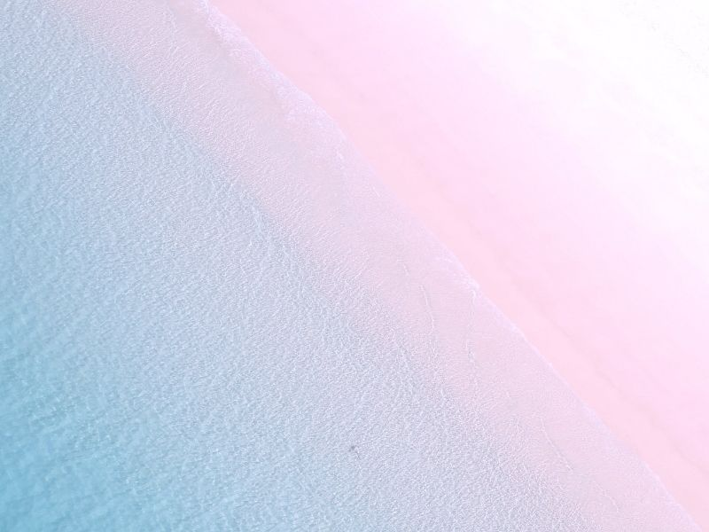 Whitehaven Beach with a pink hue