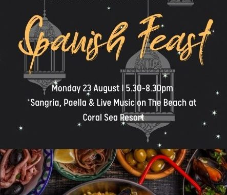 A Spanish Feast on The Beach at Coral Sea Resort